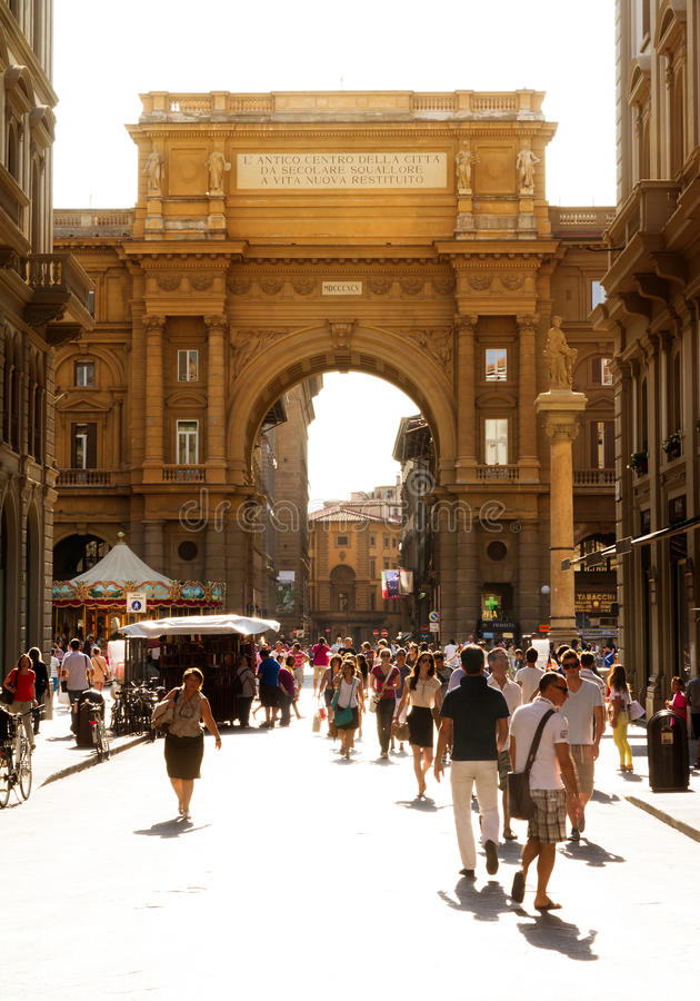 佛罗伦萨街道场面 免版税库存图片