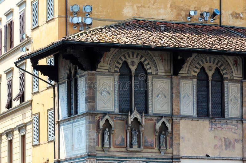佛罗伦萨街道视图,托斯卡纳,意大利 免版税库存图片