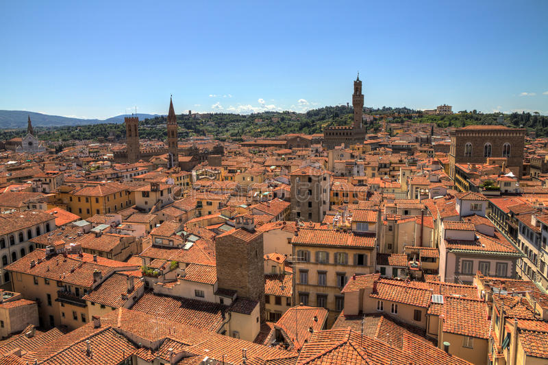 佛罗伦萨都市风景 免版税库存图片