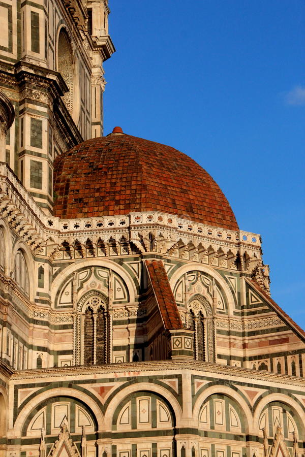 佛罗伦萨,大教堂Sant Fiower玛丽亚的特殊性  库存照片