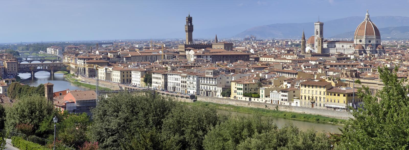 佛罗伦萨,意大利全景  免版税库存图片