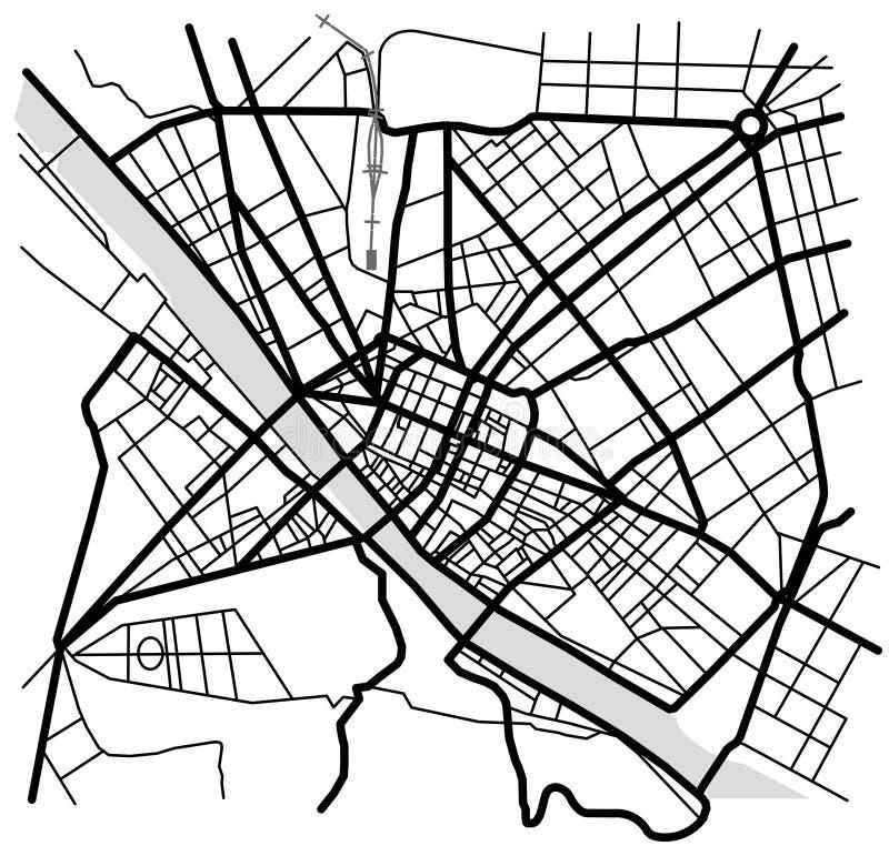 佛罗伦萨,意大利城市地图  皇族释放例证
