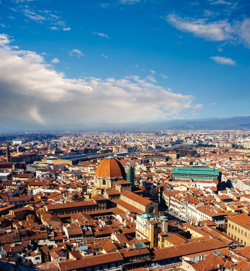 佛罗伦萨,意大利的全景 图库摄影