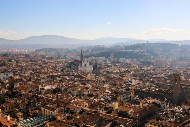 佛罗伦萨,意大利的大教堂二三塔Croce 库存照片