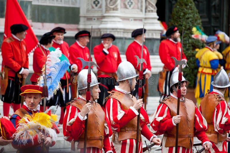 复活节庆祝在佛罗伦萨 免版税库存图片