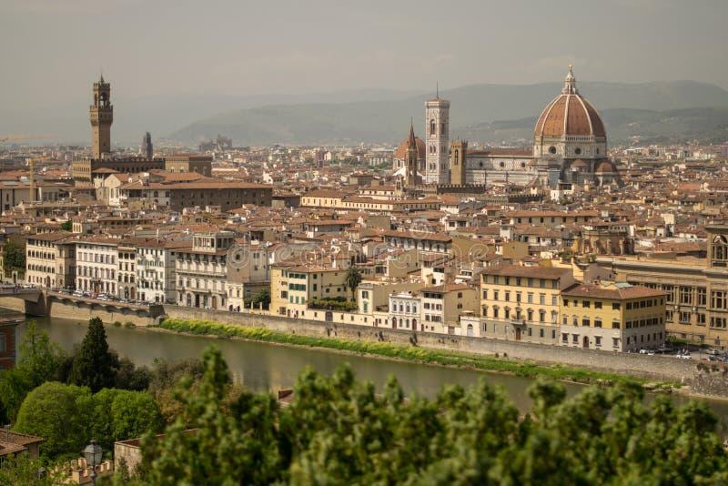 佛罗伦萨,意大利- 2018年4月24日, :在Cattedrale di圣诞老人Ma的看法 库存图片