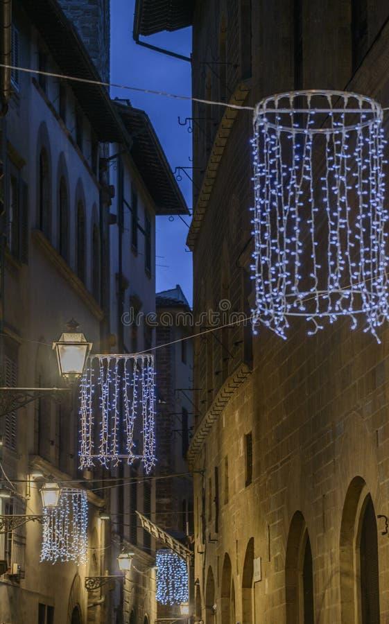 佛罗伦萨,托斯卡纳,意大利,欧洲,圣诞节装饰 免版税图库摄影