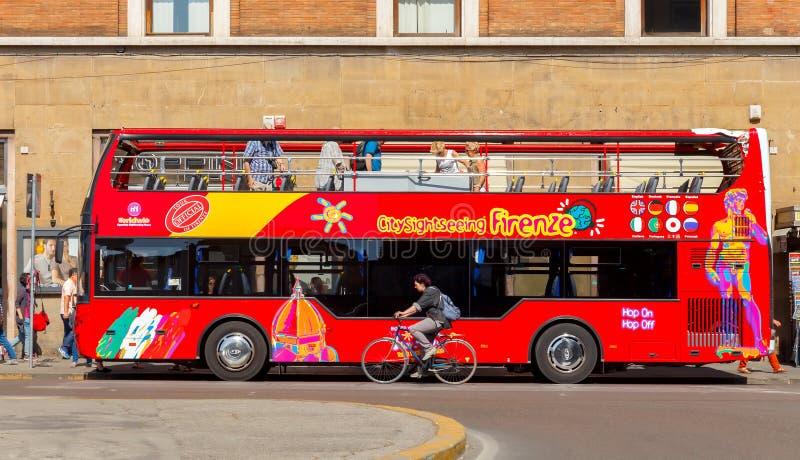 佛罗伦萨 观光的公共汽车 免版税库存图片