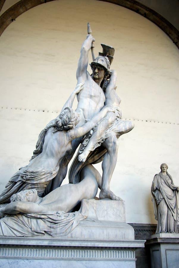 佛罗伦萨polyxena强奸 库存图片