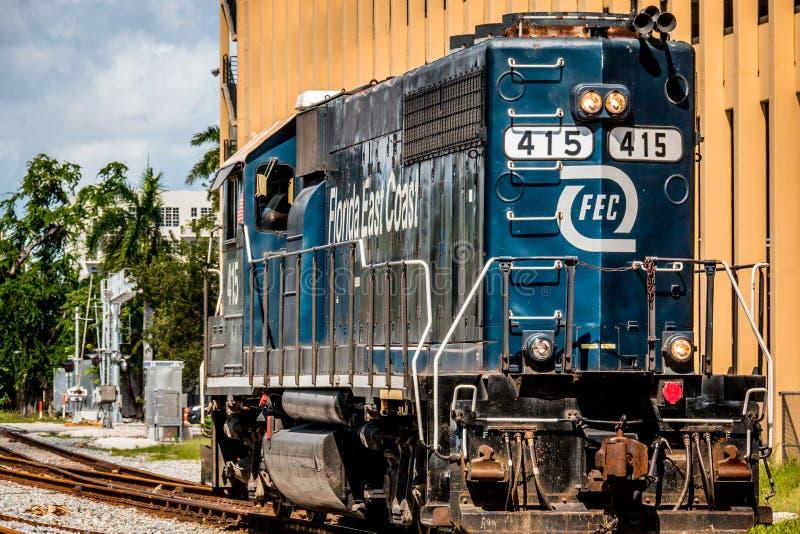 佛罗里达东海岸铁路引擎 库存图片