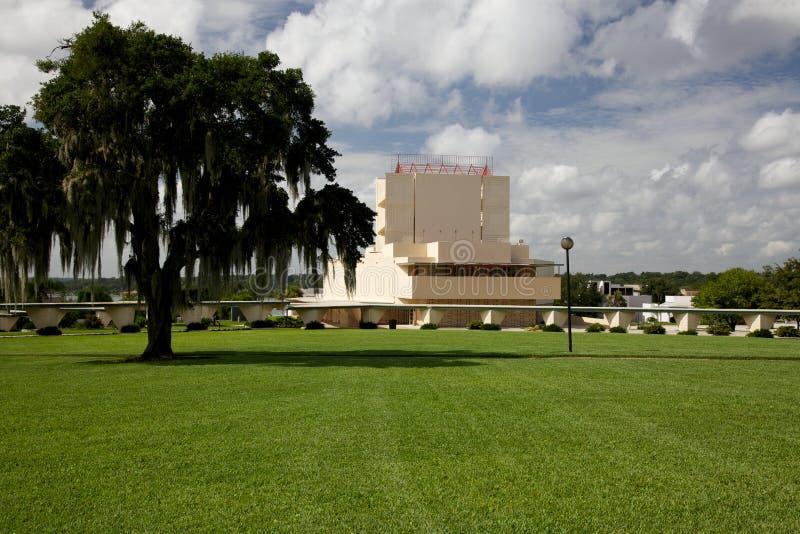 佛罗里达南部的学院的教堂 免版税库存图片