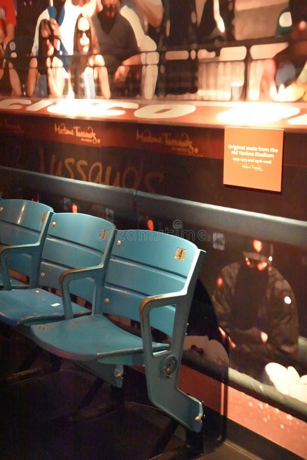 佛罗里达州奥兰多ICON公园杜莎夫人蜡像馆的扬基体育场座位 库存图片
