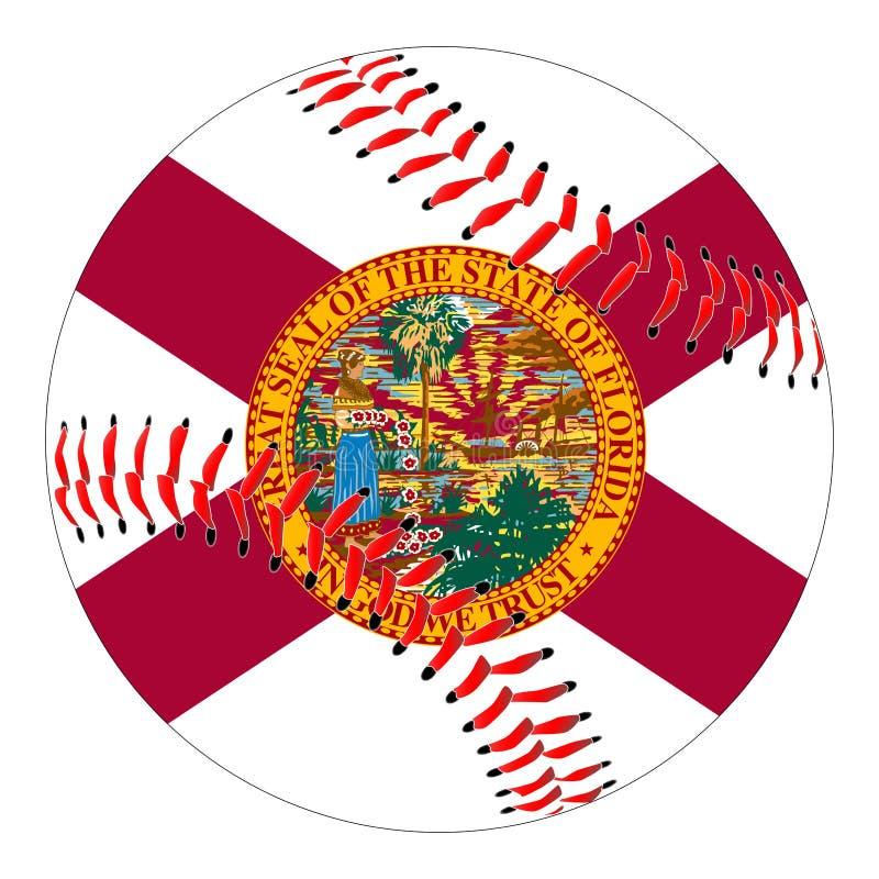 佛罗里达旗子棒球 库存例证