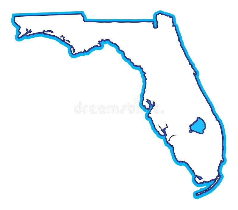 佛罗里达映射 向量例证