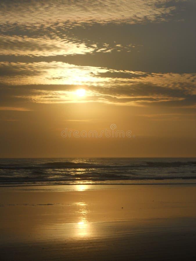 佛罗里达海滩日落 库存图片