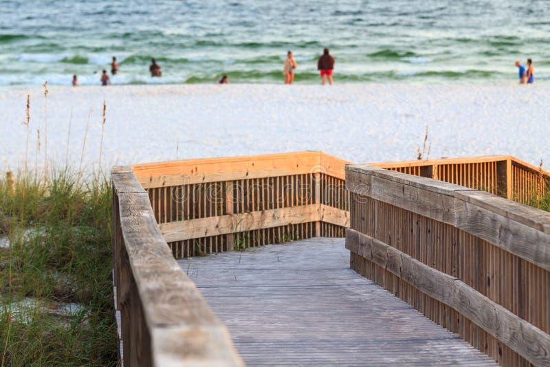 佛罗里达海滩通入 库存照片