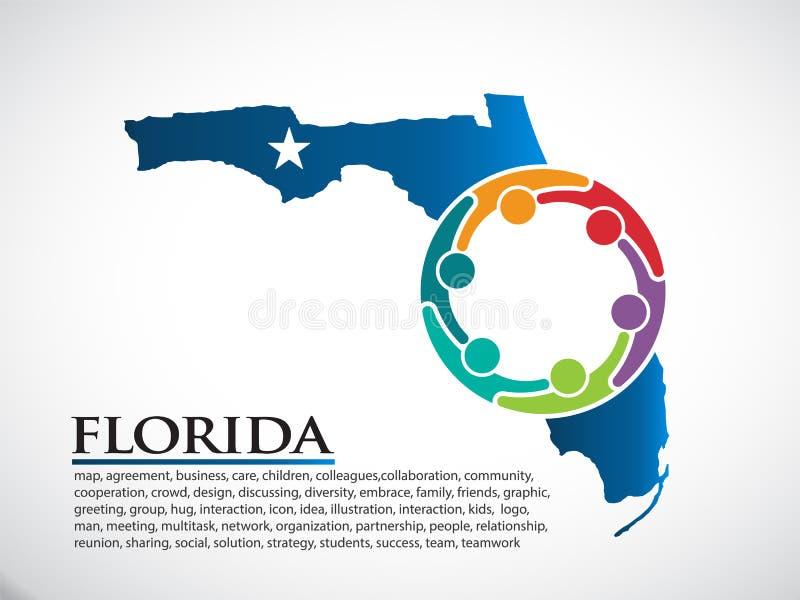 佛罗里达组织公共人 也corel凹道例证向量 皇族释放例证