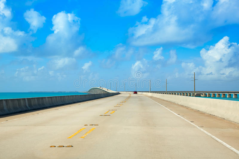 佛罗里达群岛南高速公路1风景佛罗里达美国 免版税库存图片