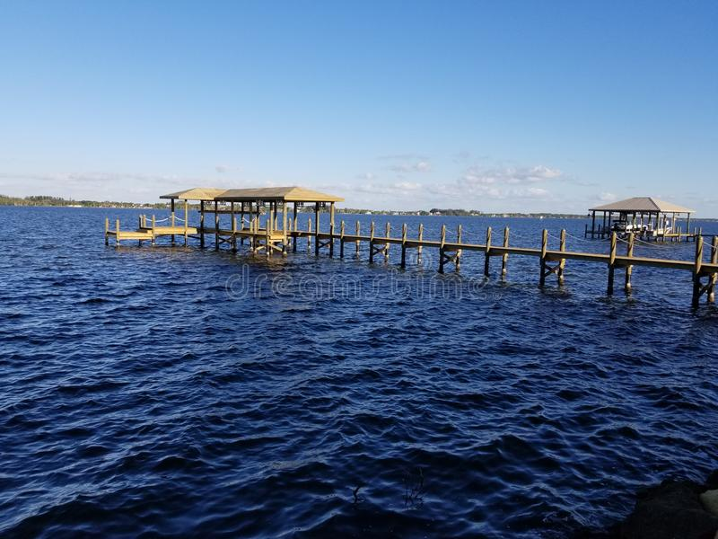 佛罗里达船坞 库存照片