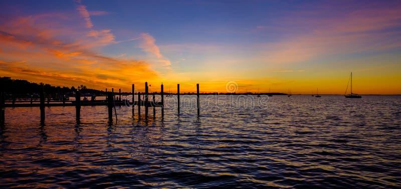 佛罗里达锁上日落 图库摄影
