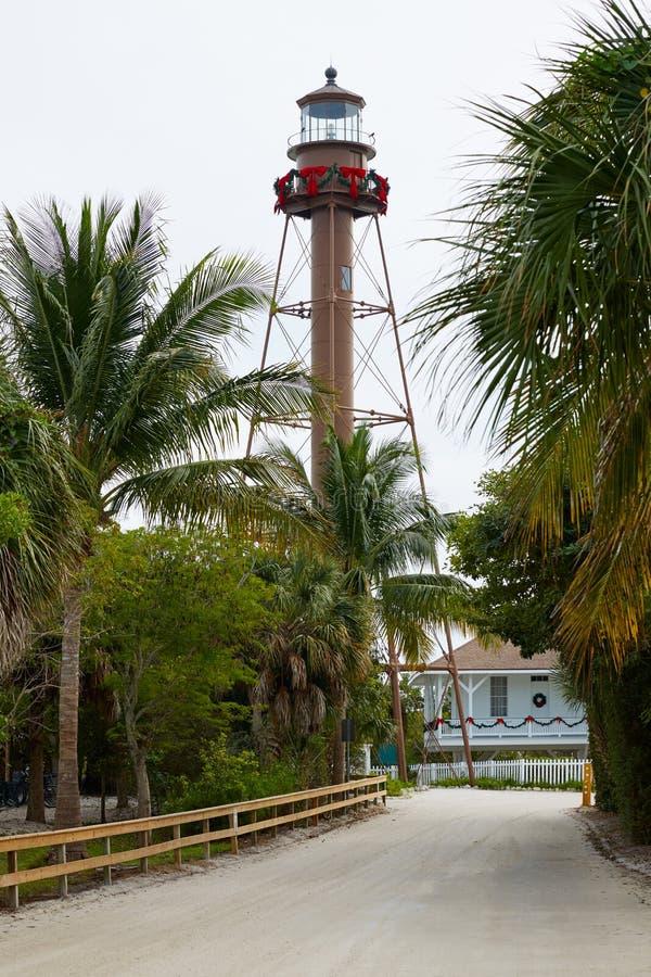 佛罗里达Sanibel海岛灯塔美国 库存图片