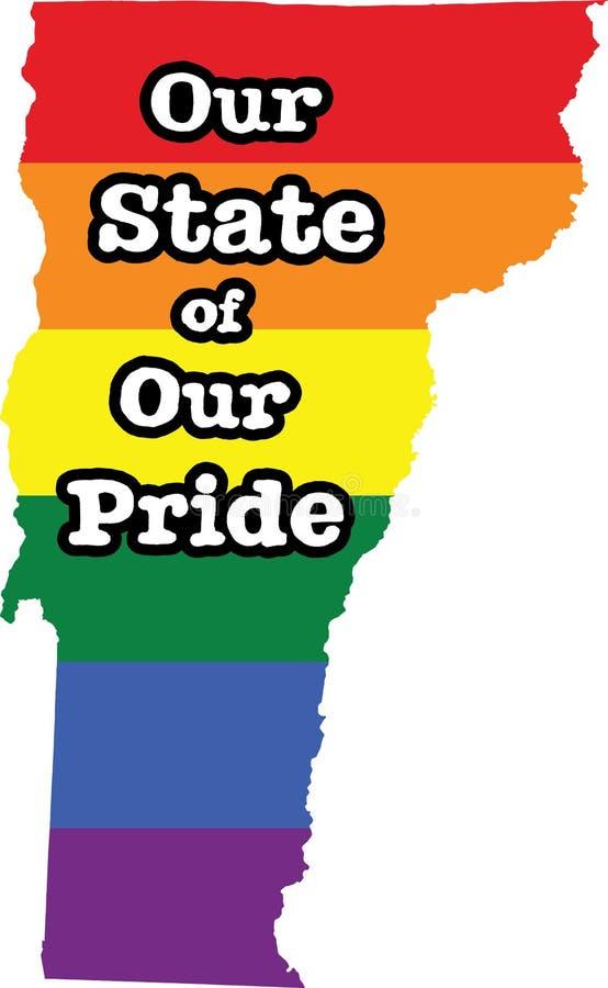 佛蒙特同性恋自豪日传染媒介状态标志 皇族释放例证