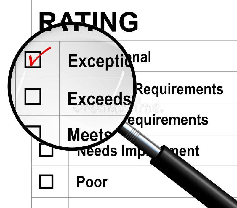 作业评定 向量例证