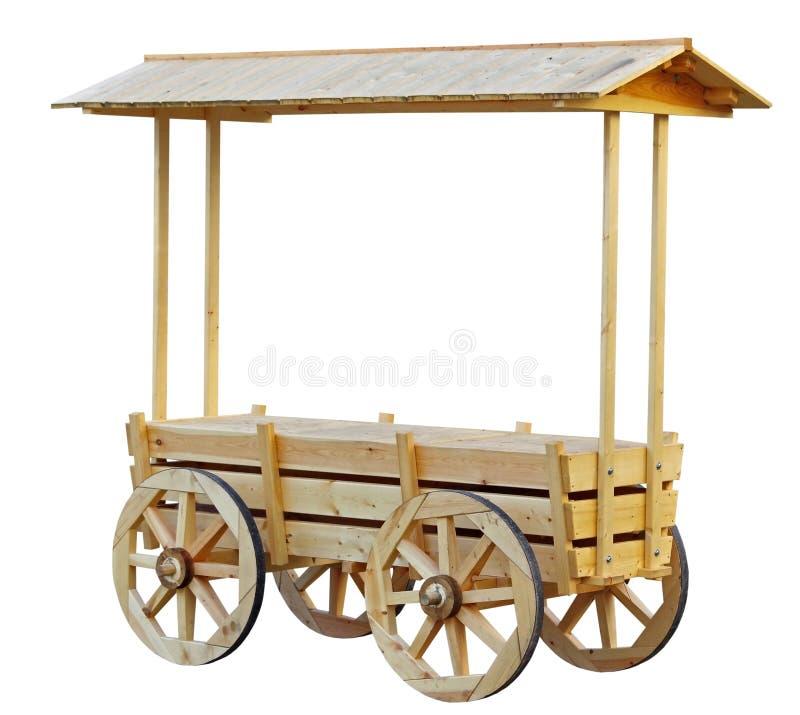 作为一个老推车被传统化的购物报亭 库存图片