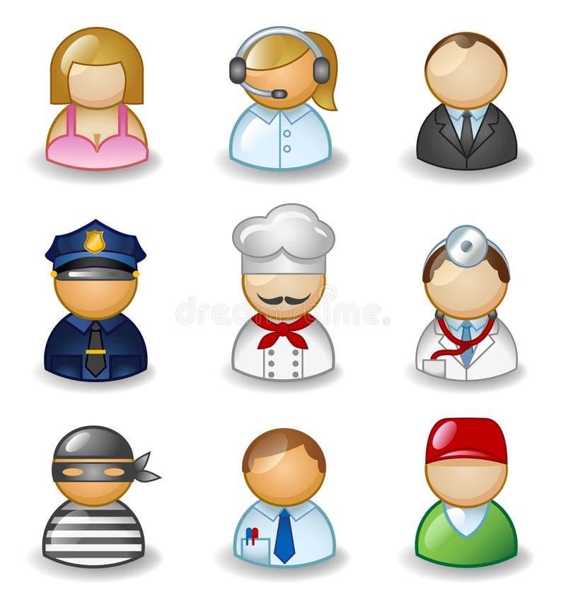 作为不同的行业的具体化 免版税库存图片