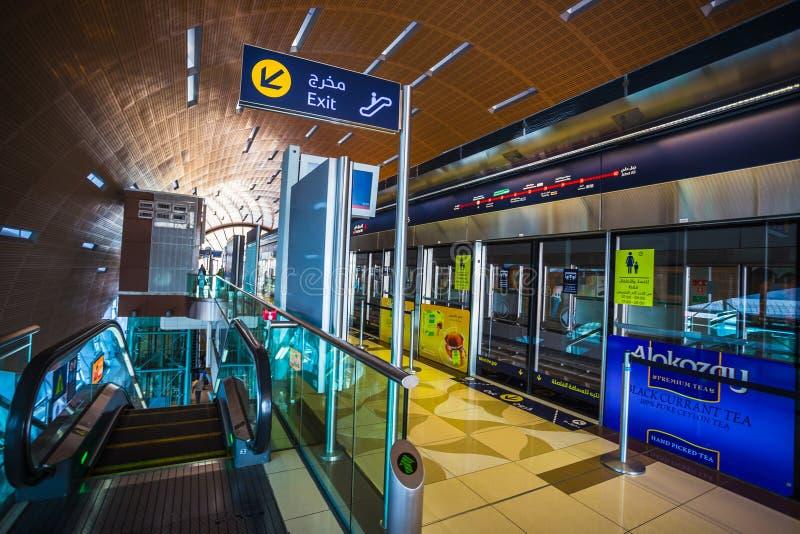 作为世界的最长的充分地自动化的地铁网络(75的迪拜地铁 库存照片