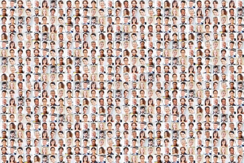 作为企业队小组的许多人 免版税库存图片