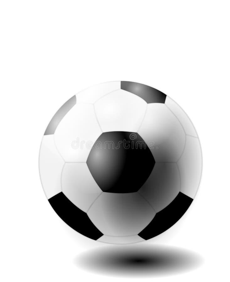 作为例证在黑白的被隔绝的足球 免版税库存图片
