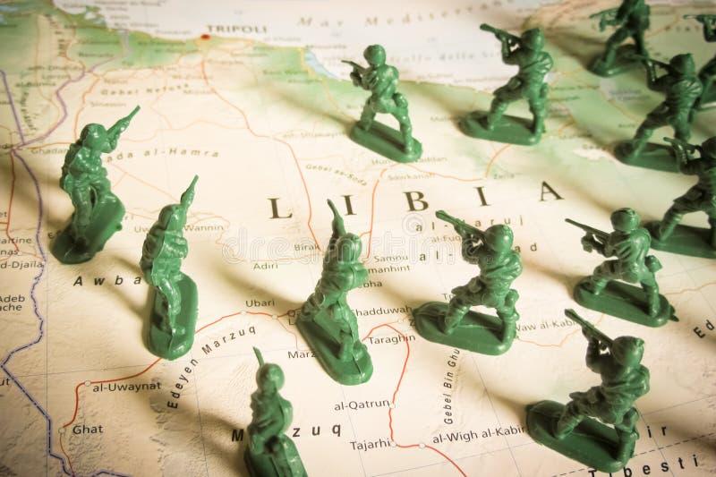 作为侵略者的反叛者利比亚疆土的 免版税库存照片