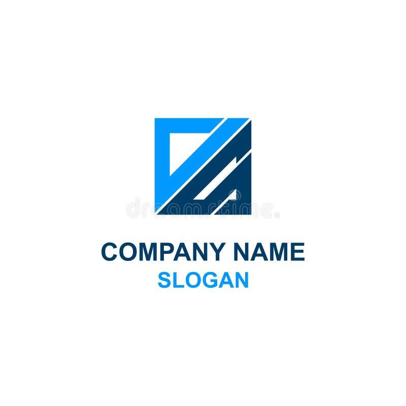 作为信件最初方形的商标 向量例证