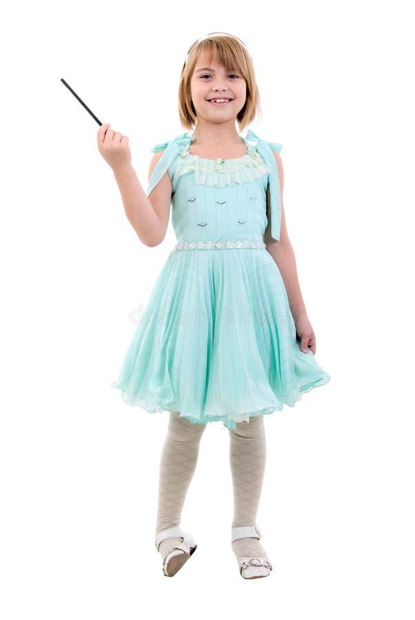 作为加工好的神仙的女孩小公主 库存照片