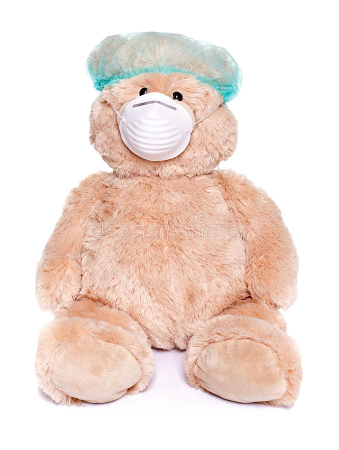作为医生的玩具熊 免版税库存照片