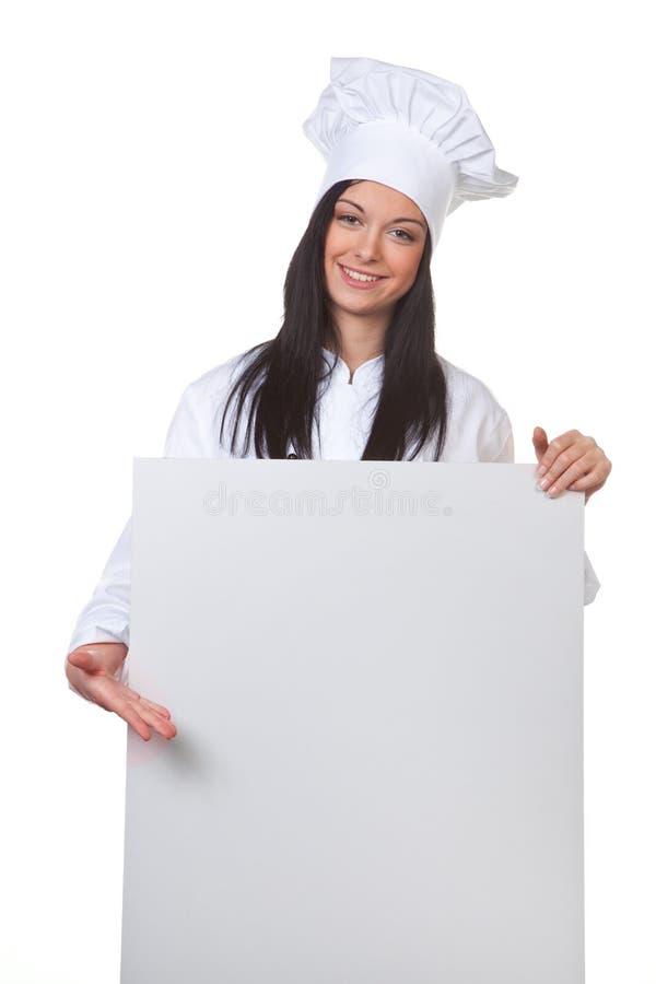 作为厨师空的菜单表 免版税库存照片