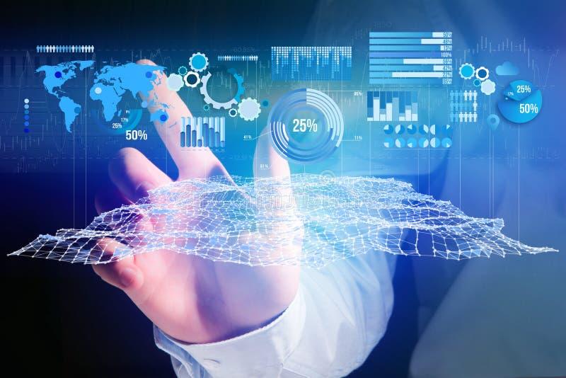 作为图表和图被显示的企业stats在一未来派inte 库存图片