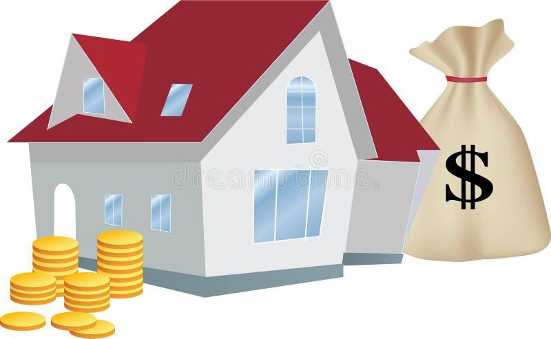作为在家有益的投资 向量例证