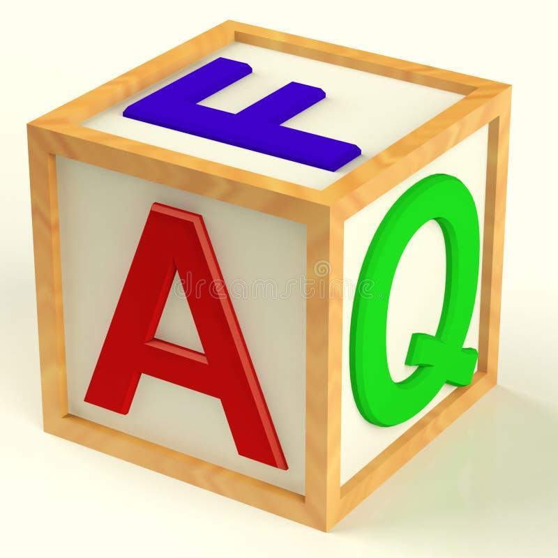 作为块常见问题解答拼写符号的答复 向量例证