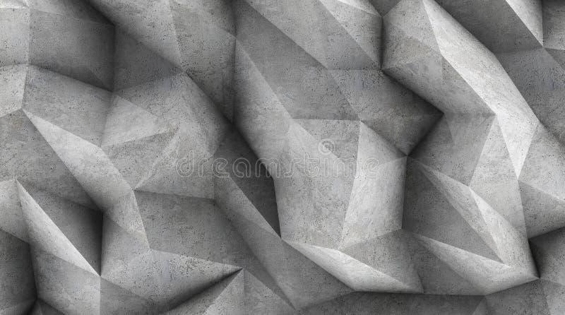 作为墙纸或背景的多角形混凝土墙 向量例证