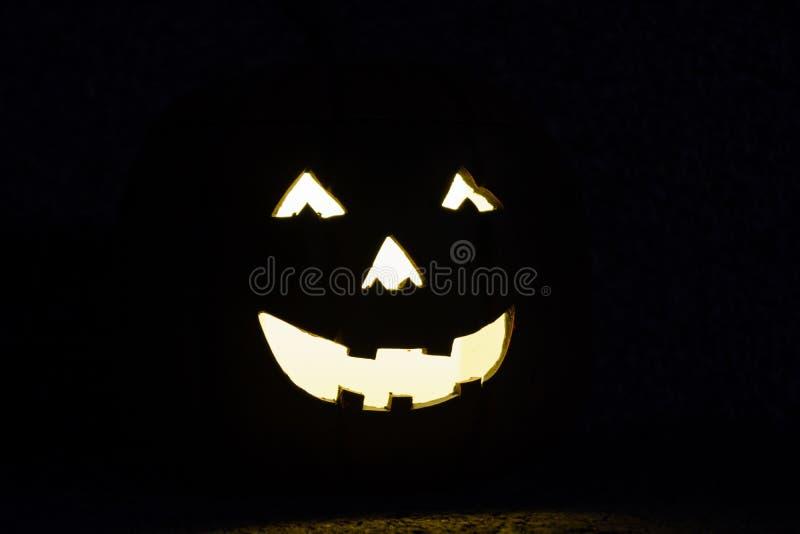 作为外部照明的鬼的面孔 库存图片