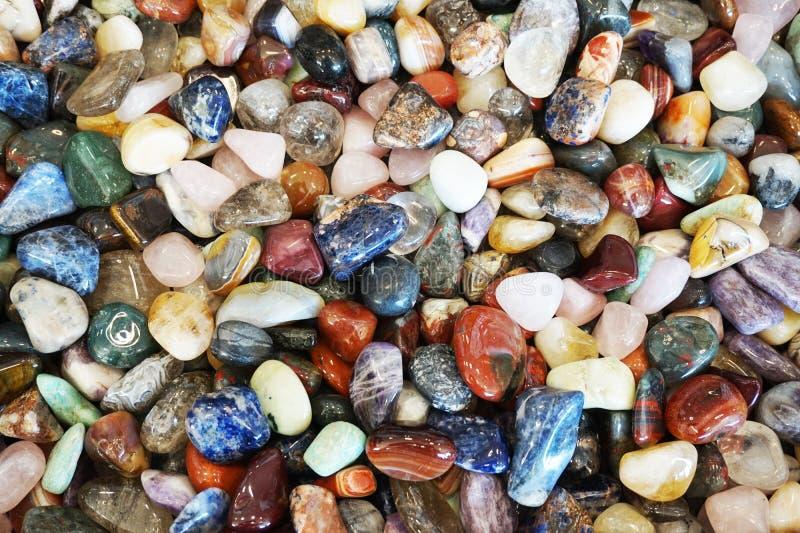 作为好的背景的另外矿物宝石收藏 库存照片