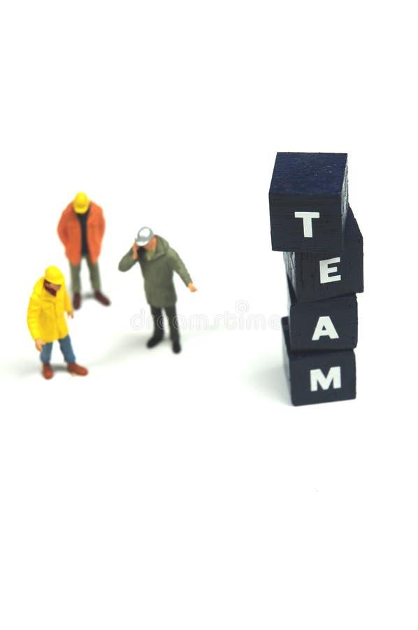 作为小组工作 免版税库存照片