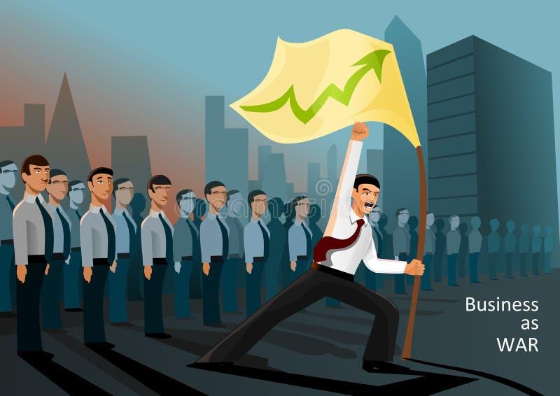 作为攻击企业战争 免版税库存图片