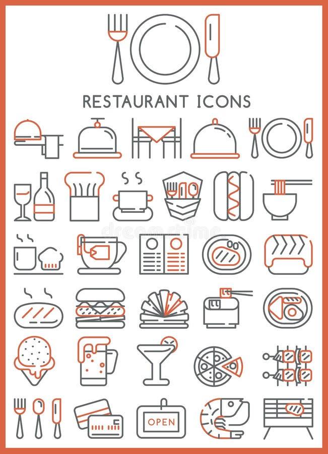 作为检查巨大图标项目更多我的其他投资组合餐馆系列很好设置了相似的千位向量 皇族释放例证