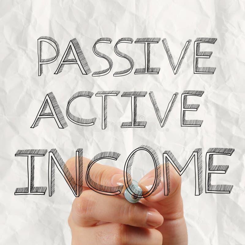 作为概念的被动或acctive收入 免版税库存图片