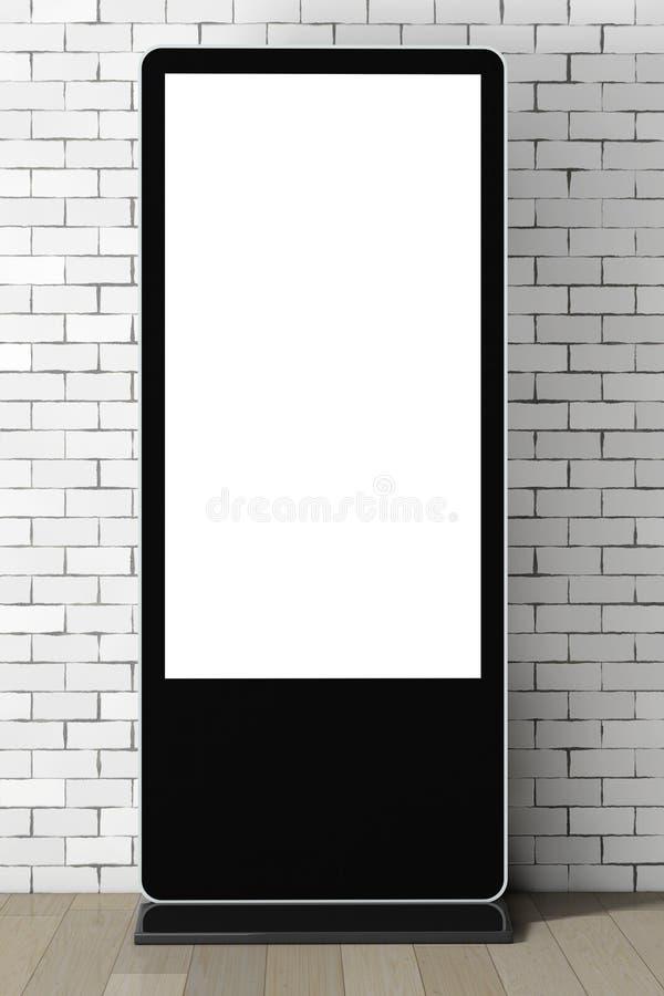 作为模板的空白的商业展览LCD屏幕立场您的设计的 3 库存例证
