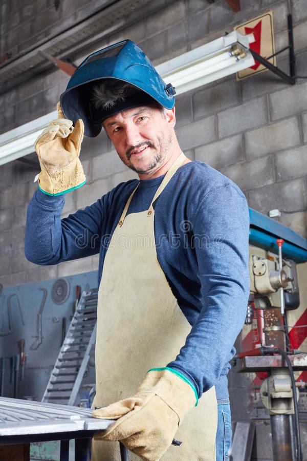 作为焊工的人有能力的 库存图片