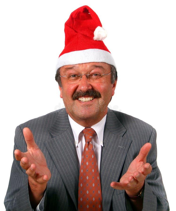 作为生意人圣诞老人前辈 免版税图库摄影
